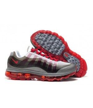 http://www.mujerairmax.es/ Mens Dark Grey Grey Red Fresco. Nike Air Max ...