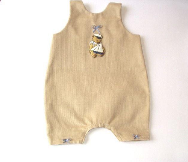 salopette beige petit ourson : Mode Bébé par tresoria