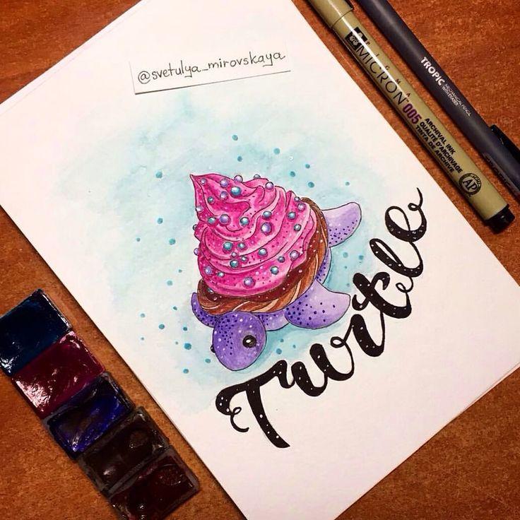 54 отметок «Нравится», 2 комментариев — 🎨Svetlana Mirovskaya🎨 (@svetulya_mirovskaya) в Instagram: «Захотелось нарисовать что-нибудь летнее🎨Лето☀️ у меня всегда ассоциируется с морем🏖🏝⛱ А море…»