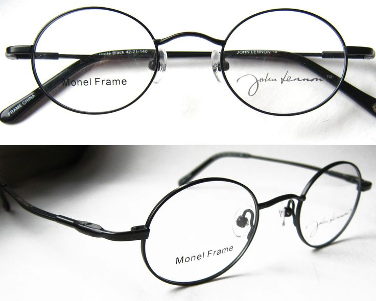 Unique Metal Eyeglass Frames : Details about JLS 214 John Lennon Eyewear Round Metal ...