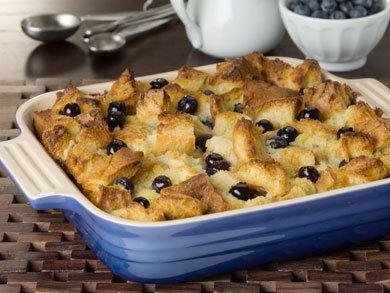 Blueberry Bread Pudding | mrfood.com