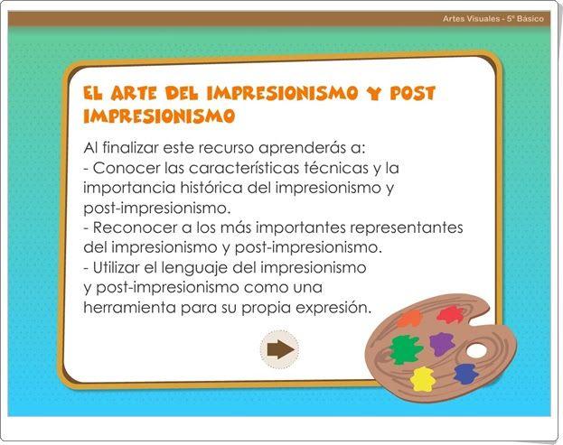 """""""El arte del Impresionismo y post impresionismo"""" (Educación Plástica de 5º y 6º de Primaria)"""