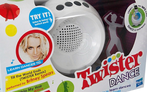 Hasbro has ditched the classic Twister mat for Twister Dance, which comes with a sphere-shaped console, LED lights and a cable to connect your music player.: Twister Games, Music Them Games, Kids Sake, Dance Games, Brit Games, Twister Dance, Kiddo Business, Games Call, Britney Spears