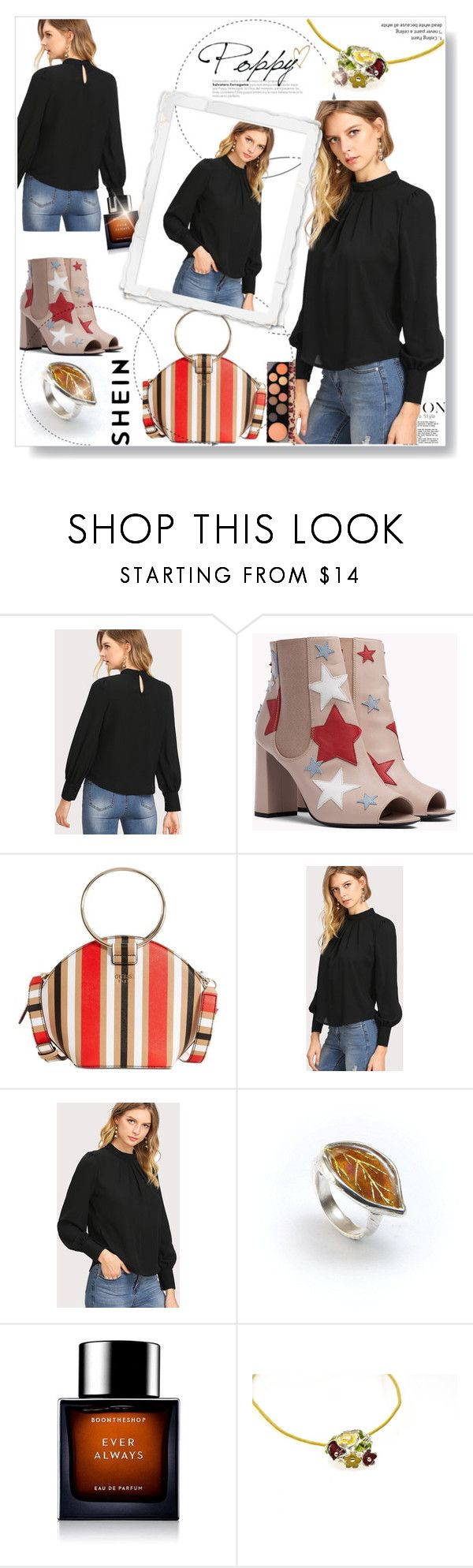 """""""Color Codes"""" by kurzzavy ❤ liked on Polyvore featuring GUESS, BoonTheShop and MAC Cosmetics"""