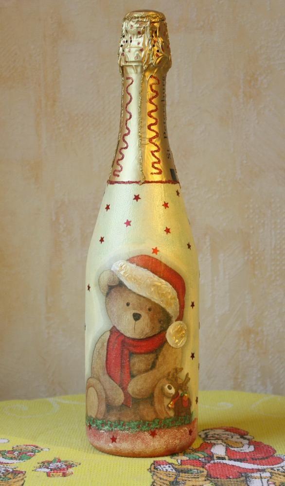 Декупажная эстафета или всем привет! http://dcpg.ru/blogs/3182/ Click on photo to see more! Нажмите на фото чтобы увидеть больше! decoupage art craft handmade home decor DIY do it yourself bottle