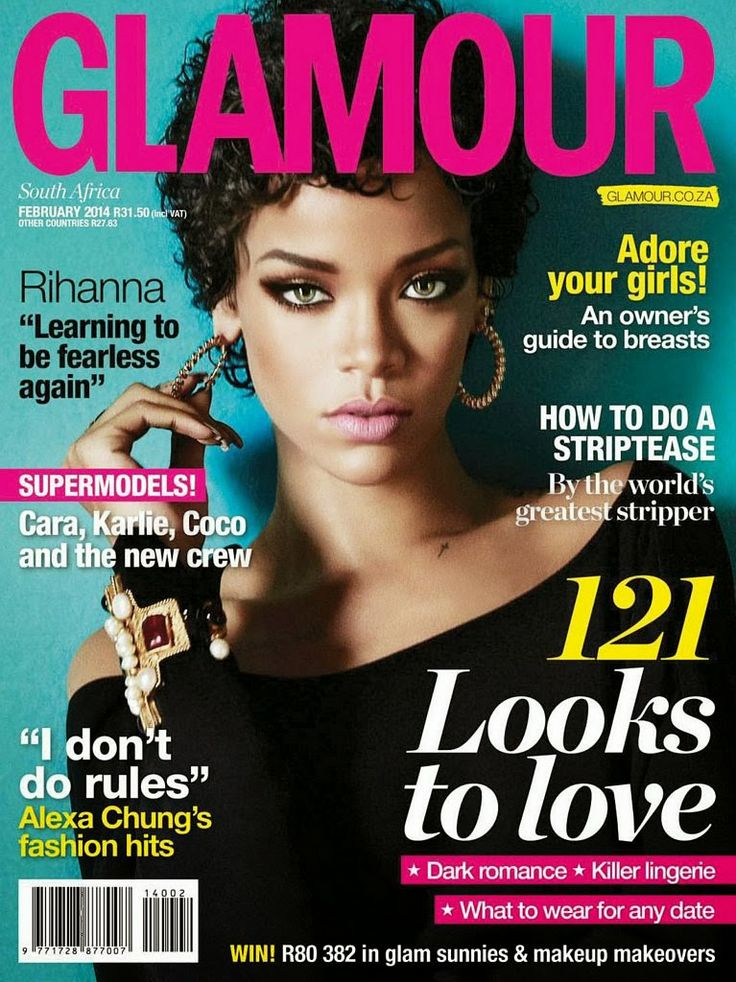 Magazines - The Charmer Pages : Rihanna - Glamour Magazine ...