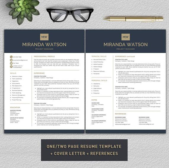 Professional and Modern Resume Template for Word - Instant Digital Download: 1 ZIP included - US Letter and A4 Sizes Included - 100% customizable - Very easy to edit - Change all headings, body text, colors, add or delete sections, fonts, font size and color, icon size and color,