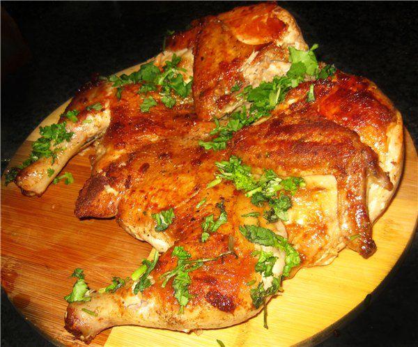 Цыпленок табака в духовке по-быстрому