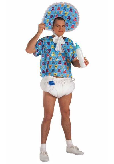 Funny Adult Baby Costume For Men
