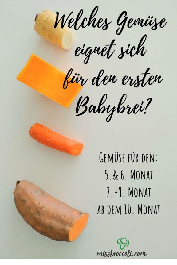 Welches Gemüse eignet sich wann für das Baby