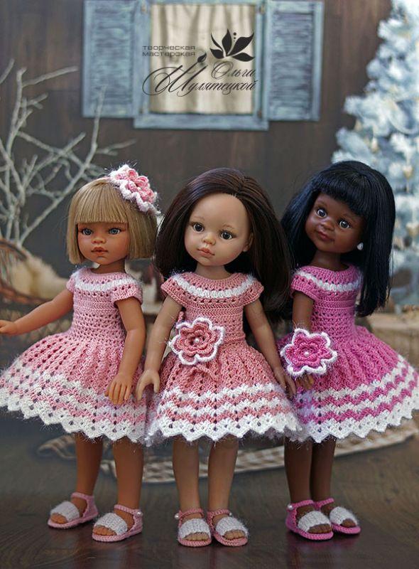 Праздничные платья для куколок Paola Reina / Одежда для кукол / Шопик. Продать купить куклу / Бэйбики. Куклы фото. Одежда для кукол