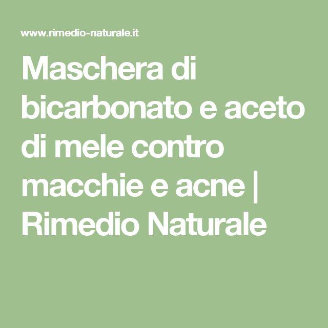 Maschera di bicarbonato e aceto di mele contro macchie e acne | Rimedio Naturale