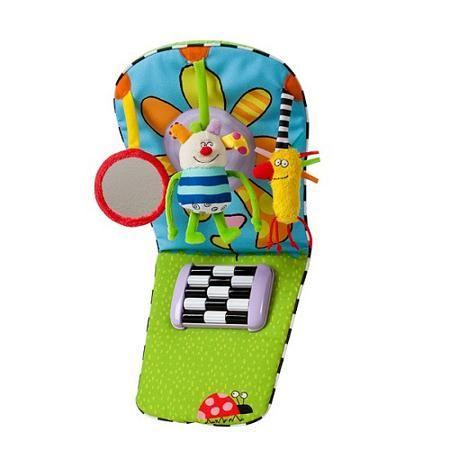 """Игрушка """"Развивающий центр для автомобиля"""",  TAF TOYS  — 1197р.  2 в 1 Развивающий центр и фитнес для малыша.Увлекательные  занятия для малыша во время поездок. Детское  безопасное зеркалоУдобное крепление для  автомобиля."""