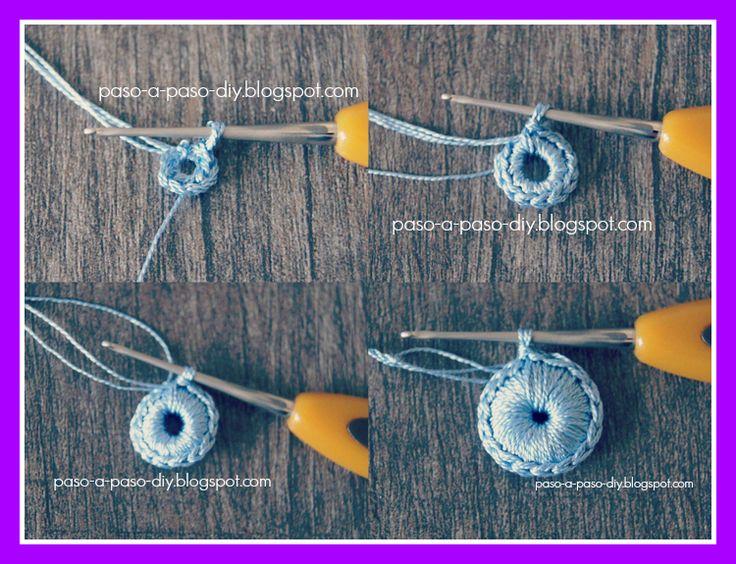 Flor de Tres Pétalos al Crochet - Paso1