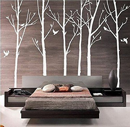 Removable Vinyl Wall Stickers Set of 8 Branch Tree Wall Decals White Tree Wallpaper with Birds for Living Room, http://www.amazon.ca/dp/B0162ISYP6/ref=cm_sw_r_pi_awdl_YdKZwb11QKB46