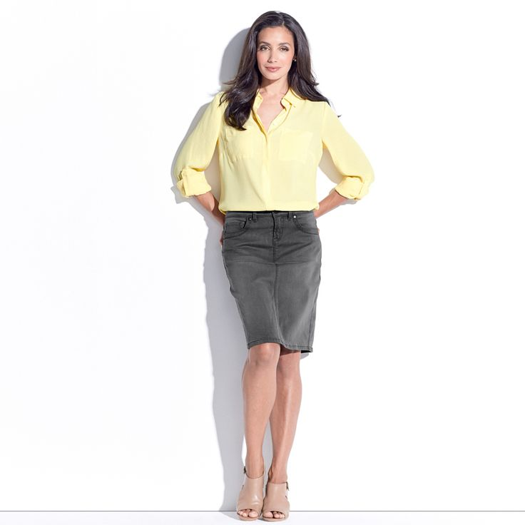 ADDIE BUTTON THROUGH SHIRT - Sunshine. This long sleeve button shirt features front pockets and concealed front placket. It has sleeve tabs for rolling and has hi-low hem design.