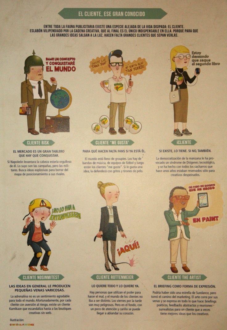 Clientes, no todos son iguales. #Advertising #infographic