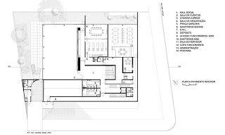 Planta 1º sub-solo | Centro Cultural do Instituto Ling - Isay Weinfeld | Porto Alegre