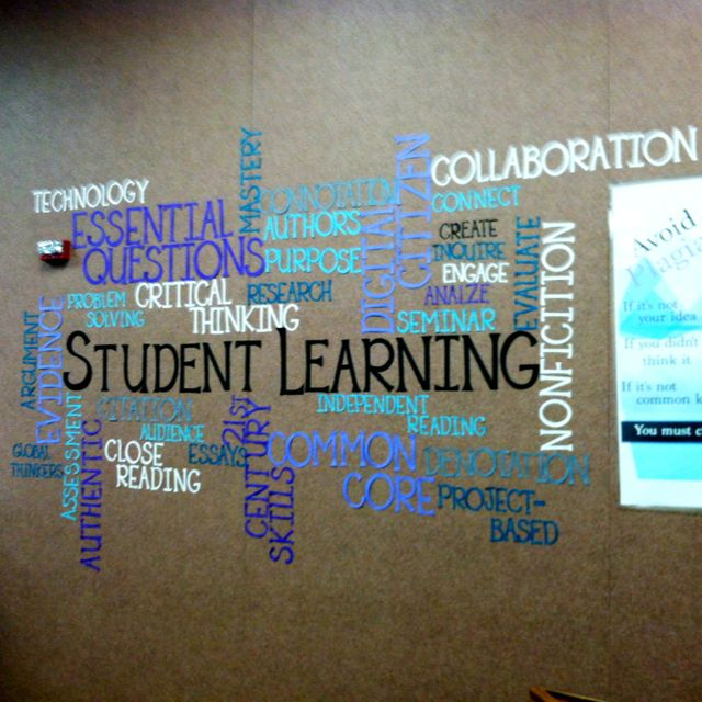 Wall Design For Classroom : I created a wordle on the computer and then modified