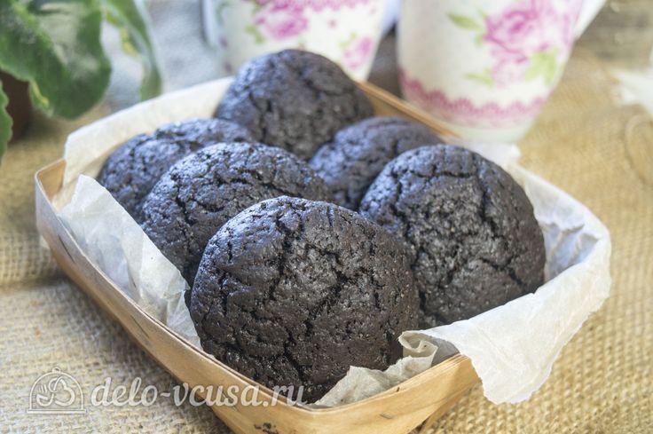 Шоколадно-кокосовое #печенье #выпечка #рецепты #деловкуса #готовимсделовкуса