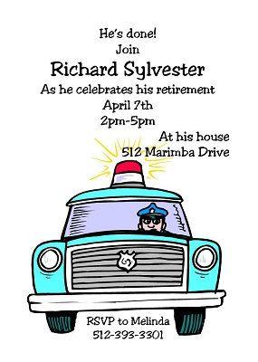 Police retirement party invitations852 by partyinvitationscom, $15.00