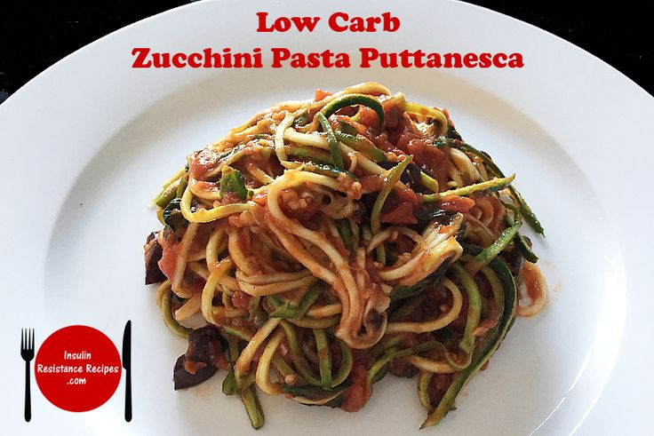 This dish was an instant hit that I make it over and over again! Low Carb Zucchini Pasta Puttanesca | Insulin Resistance Diet Recipes