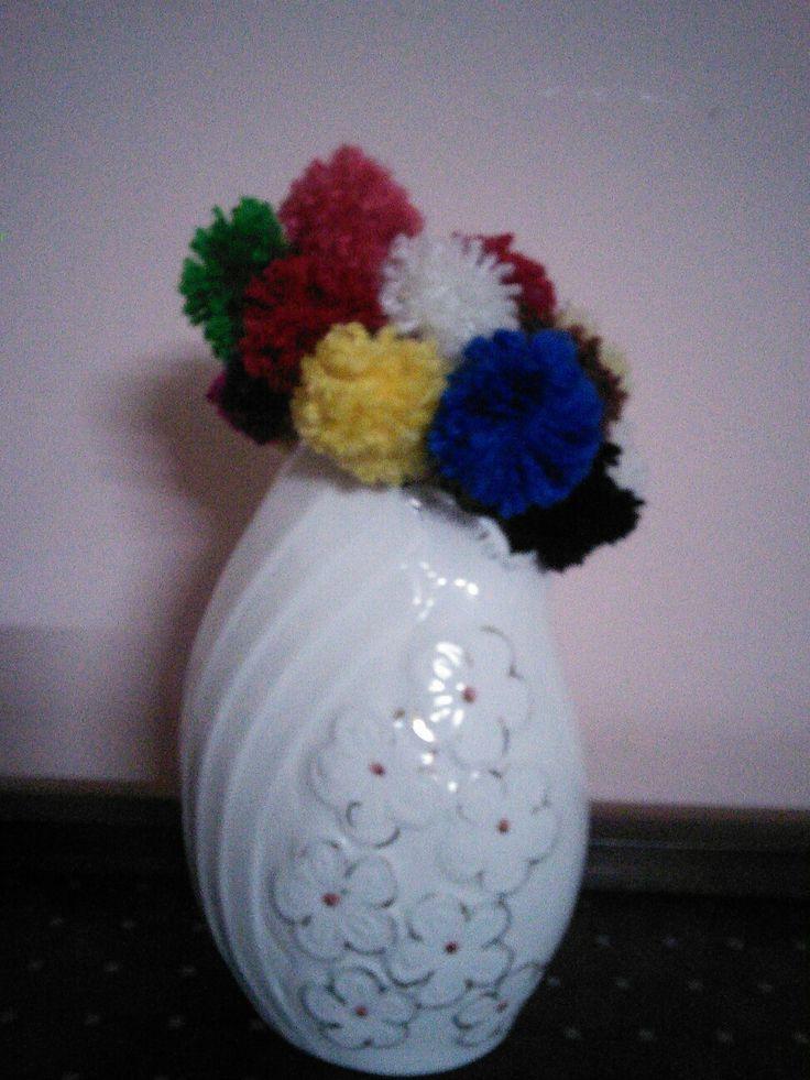 Bouquet of pom.pom.