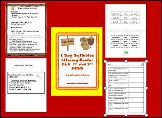 """LMN Tree: Teaching Syllables with an """"I Spy"""" Game and a HatSchools Ideas, Spy Games, Classroom Reading, Schools Stuff, Literacy Center, Spy Syllables, Lmn Trees, Classroom Ideas, Teaching Syllables"""