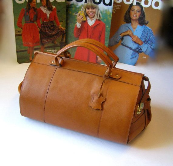 Leather bag shape bag Bowling  Leather Bowling by antiquityfrench