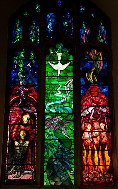 The Benjamin Britten memorial window designed by John Piper. [by sue_hutton, via Flickr]
