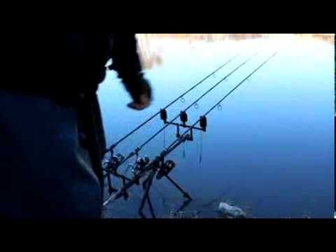 Winter Carp fishing fail. What not to do when winter carp fishing. Got to pay attention to your rods.