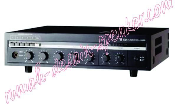 Amplifier ZA-1360SS memiliki 5 Speaker Selector.   Specifcations:  Power Source :AC 230V 50/60Hz  Rated output : 360 watt  Power consumption : 350 watt  Frequency Response : 50-18,000 Hz,+/- 3 db  Mic 1-3 : -52dBV (2.5mV),600 , unbalanced, Equivalent to phone Jack  Aux 1-2: -10dBV (316mV), 10 , unbalanced, RCA pin Jack  Output : Speaker outputs plug in screw connector, Direct line:100V (H:28), 4-16 (4-16)  Speaker selector : 5 zone selector (all zones simultanesously selectable), plug in…