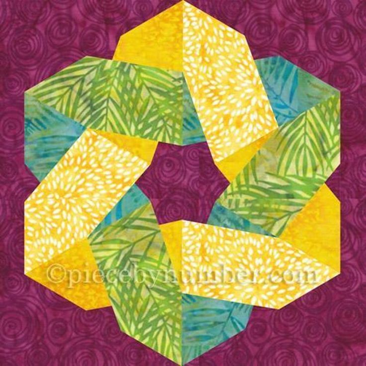 Knotty and Nice paper pieced quilt block | Craftsy