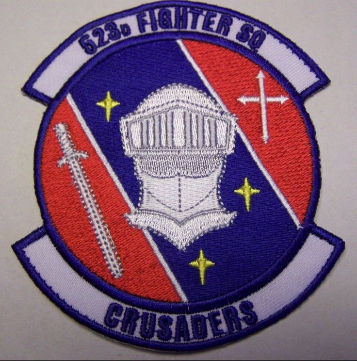 US Air Force 523rd Fighter Squadron Patch (Crusaders)