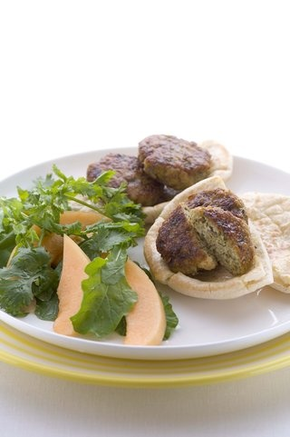 Chicken falafel patties, great with hommus or babbganoush