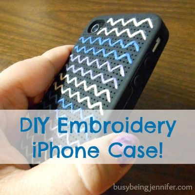 DIY Embroidery iPhone Case