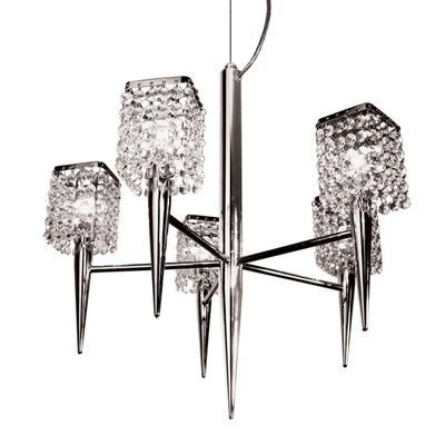 BAZZ - Chandelier 5 arms Chrome G9 With Crystal Glass Shade - LU3019DC - Home Depot Canada