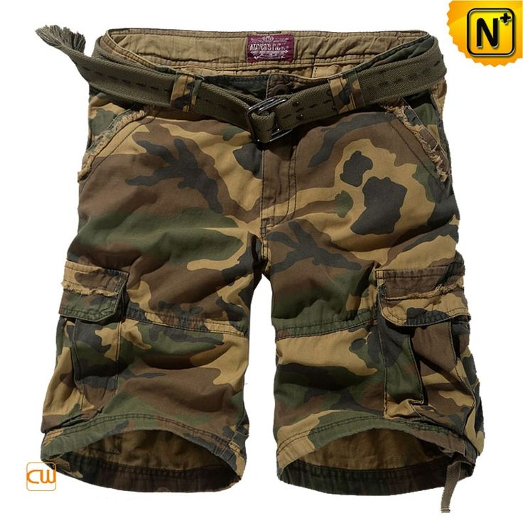 Belted Camo Cargo Shorts for Men CW140066 $69.89 - www.cwmalls.com