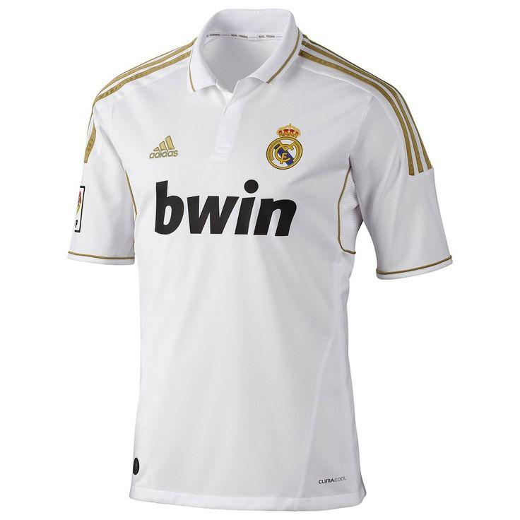Men's Real Madrid Home Soccer Jersey - White/Gold Soccer jer