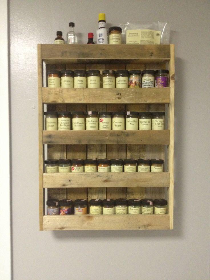 17 Best Ideas About Pallet Spice Rack On Pinterest Wall