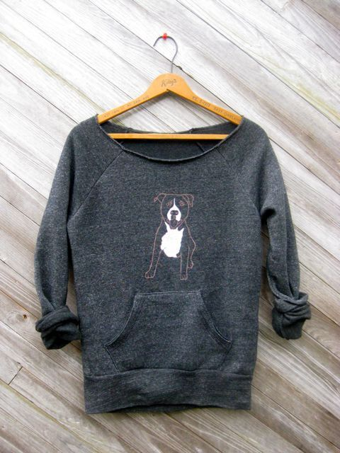 up for anything Pitbull Shirt Dog Sweater Cute by nicandthenewfie For my Britty...she would love this
