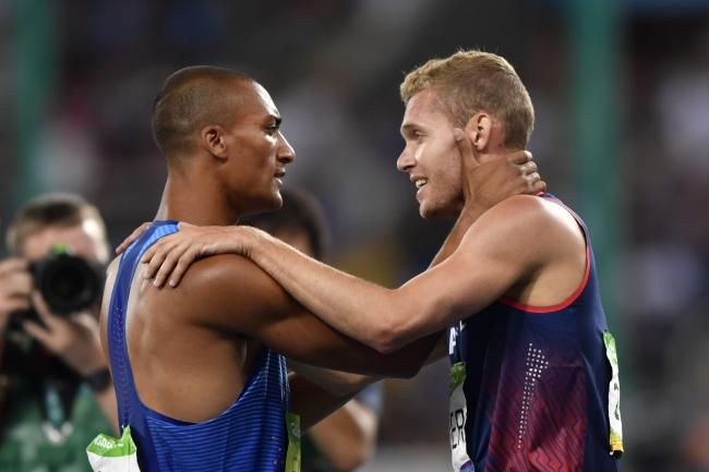 Borders are fluid at the Rio Games, as when Ashton Eaton of the U.S. and Kevin Mayer of France connected after finishing first and second, respectively, in the decathlon.
