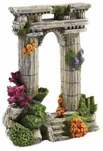 Twin Column Ruin Aquarium Ornament Classic Brand Available From Seapets. Each Of The Roman Style Ornaments Is Designed Fit For Purpose From The Manufacturer