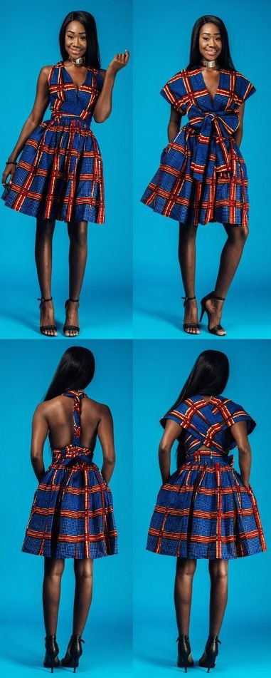 mini INFINITY in blue line. African print infinity dress  Can be worn more than 6 different ways. Ankara | Dutch wax | Kente | Kitenge | Dashiki | African print dress | African fashion | African women dresses | African prints | Nigerian style | Ghanaian fashion | Senegal fashion | Kenya fashion | Nigerian fashion | Ankara crop top (affiliate)