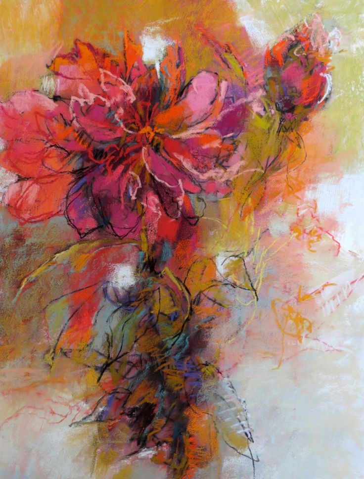 Peony Pastel On Paper 26x20 Inches By Debora Stewart In