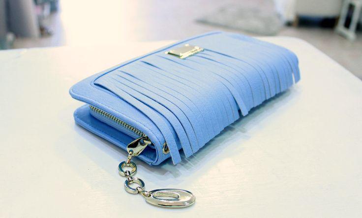 Pale blue purse