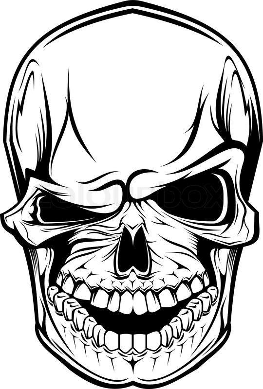 Stock vector of 'Danger skull as a warning or evil concept'
