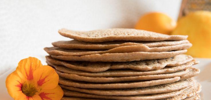 Glutenvrije pannenkoeken van boekweit en teff (recept)
