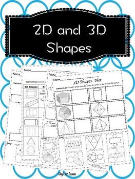 A range of different worksheets to learn about 2D and 3D shapes, these include:- 2D shapes name match- 3D shapes name match- Parts of 3D shape- Record how many faces, edges and vertices each shape has- Net of 3D shapes ACARA- Recognise and classify familiar two-dimensional shapes and three-dimensional objects using obvious features (ACMMG022)-Make models of three-dimensional objects and describe key features (ACMMG063)