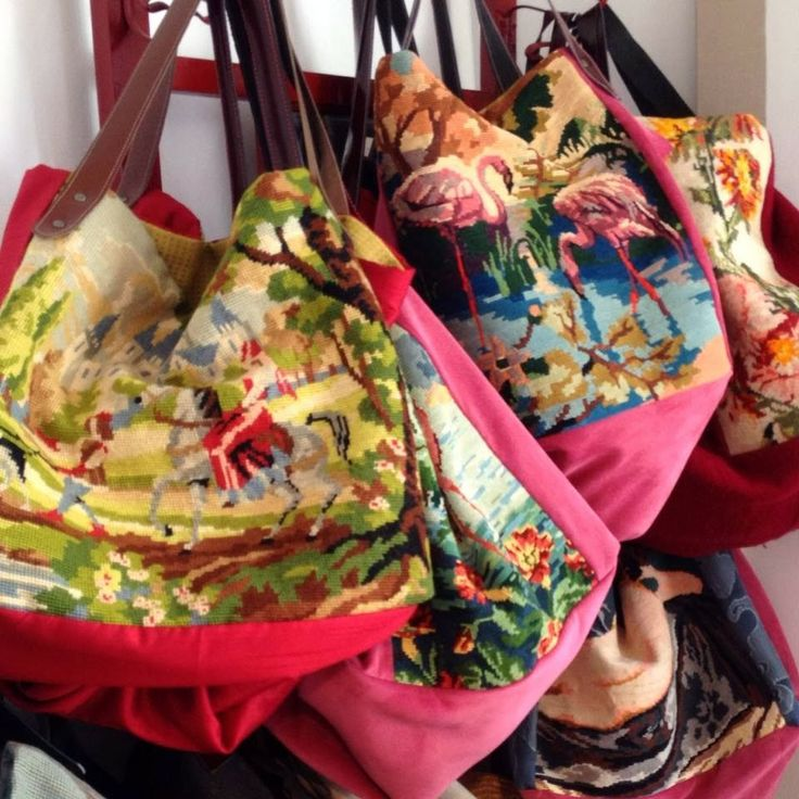 Needlepoint bags